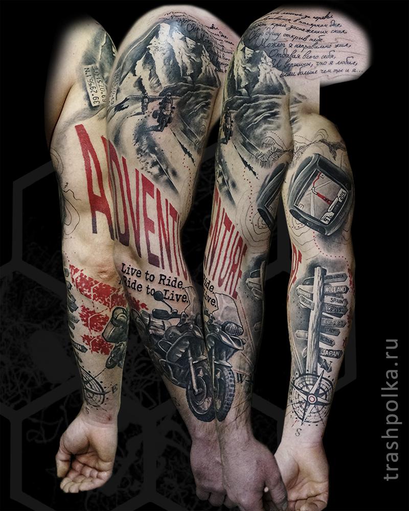 realistic-trash-polka-tattoo-konstantin-novikov-003-sleeve-adventure: trashpolka.ru/tattoos