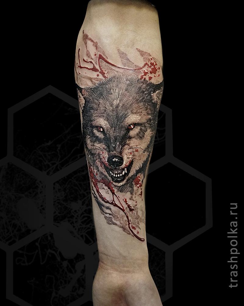 realistic-trash-polka-tattoo-konstantin-novikov-018-тату-волк-на-руке