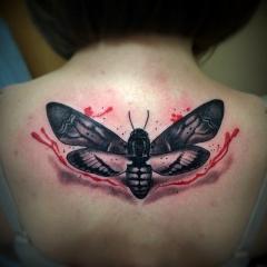 Realistic Trash Polka Tattoo