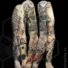 trash-polka-tattoo-sleeve